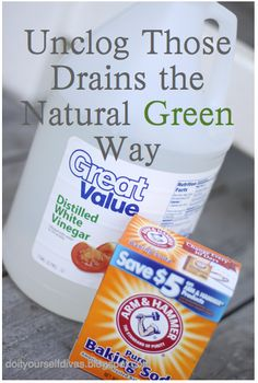 NATURAL, CHEAP, GREEN Drano that you can make in your own home! It really works