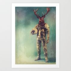 Without Words Art Print by Rubbishmonkey - $16.00