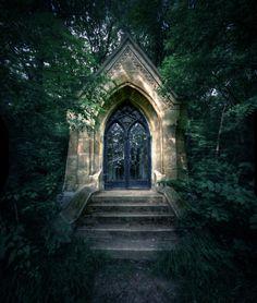 the doors, church, secret garden, dream homes, portal, garden paths, beauti, wonderful places, gate