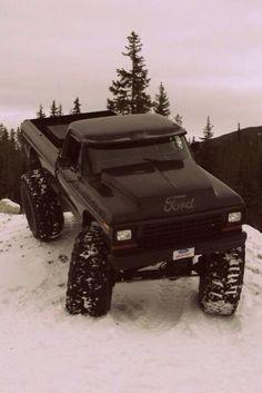 Classic Ford Truck in the Snow