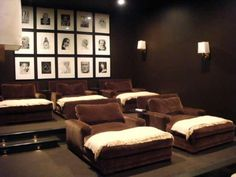 Movie theater room with comfy seating!