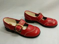 Vintage RED GOOSE Girls Strap & Buckle Shoes [Adorable!]