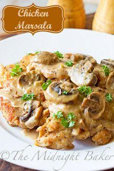 Chicken Marsala #chickenmarsala #chickenrecipes