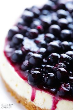 Lighter Blueberry Cheesecake | Full of great flavor, but made with lighter ingredients! gimmesomeoven.com