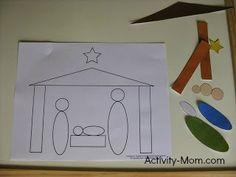 nativity shape craft