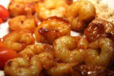 Honey-lime shrimp!