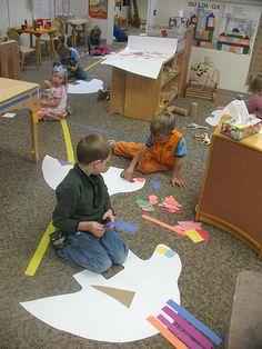 Toddler crafts: giant dinosaur