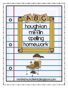 This packet includes 2 pages of homework for each week of Themes 3- 10 for Houghton Mifflin first grade spelling words.