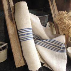 Antique linen hemp homespun upholstery  fabric