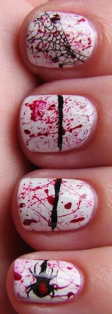 2013 halloween nails for girls.   #nails #halloween #girls #fashion