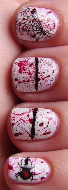 2013 halloween nails for girls.   #nails #halloween #girls #fashion