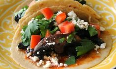These tacos are quick and easy to make and there's the one-two punch of flavor from syrupy balsamic glaze and fiery adobo sauce doesn't hurt things, either.
