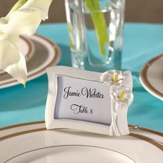 Calla Lily Favor Wedding Place Card Holder and Photo Frame