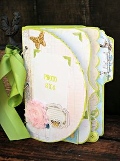Sunshine and Summertime Album kit   by Cheri Piles for The Hens' Den. Using BoBunny Country Garden Collection