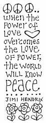 power of love Stamp, Hendrix Quot