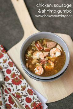Chicken, Sausage  Shrimp Gumbo