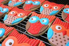 food, owl cookies, owls