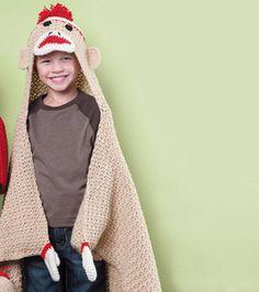 knit crochet, sock monkeys, monkey blanket, heart yarn, blanket patterns