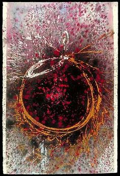 """DALE CHIHULY  BASKET DRAWING, 2001  ACRYLIC ON PAPER  42 X 30"""""""
