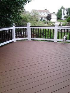 how to clean a painted deck