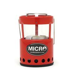 UCO Micro Candle Lantern。通常はキャンドルを使うものですが、Lunax Mini 4Hを入れてオイルランタン化します。