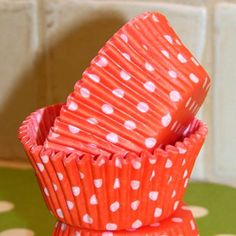 Cupcake Papers - Orange Dot