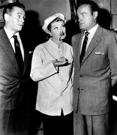 Desi Arnaz, Lucille Ball and Bob Hope #ILoveLucy