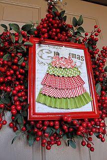 Framed paper Christmas tree