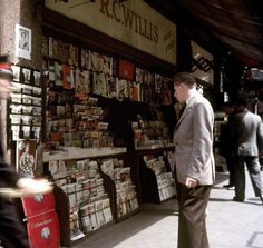 RC Willis magazine stall, London, 1956.