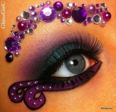 ursula themed makeup | Ursula makeup | GlitterGirlC