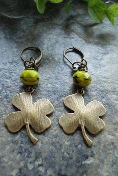 Four Leaf Clover Earrings clover earring, four leaf clover