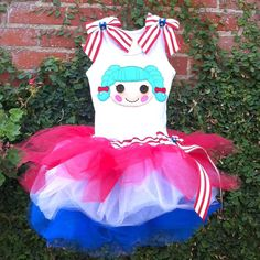 Lalaloopsy Marina Anchors red white and blue by ChasenLondon, $75.00