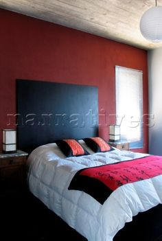 wall colors, red wall, bedroom walls, red room, redroom