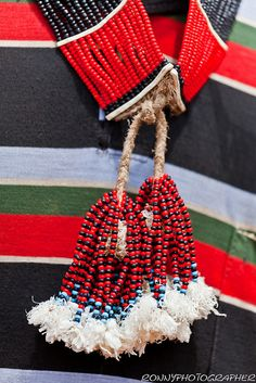 Africa | Details of Benna beaded necklaces. Lower Omo Valley | © Ronny Reportage