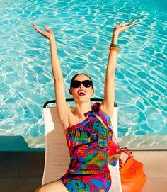 trina turk, summer styles, summer dresses, summer fashions, summer beach, coco rocha, summer colors, banana republic, pool parti