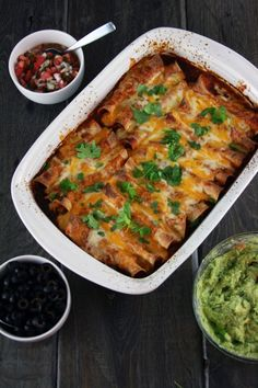 chicken enchiladas with red sauce