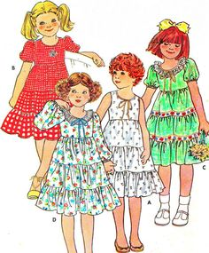 1970s Girls Dress Pattern Butterick 6089 Toddler by paneenjerez, $7.00
