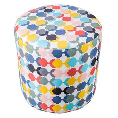I can imagine some cute vignettes with this ottoman