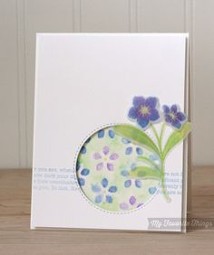 Forget Me Not, Forget Me Not Die-namics, Blueprints 12 Die-namics, Spring Flowers Stencil - Kimberly Crawford #mftstamps