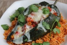 Chorizo and Roasted Corn Stuffed Poblano Peppers