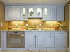 this is someone's butler pantry...i'd be happy to have it as my kitchen...