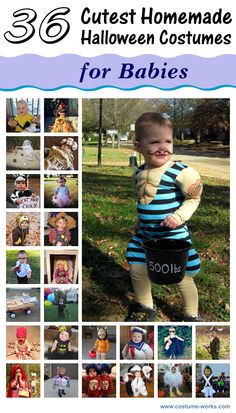 36 Cutest DIY Halloween Costumes for Babies via @costumeworks