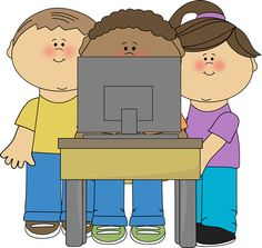 Kids using a school computer from MyCuteGraphics computers, school cute clipart free, graphic, tag, school comput, school kids, free clipart