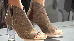 eco fashion show, vegan shoes made from recyclable plastic.