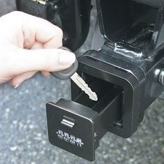 Truck Hitch Hidden Compartment - Cool place to keep a spare key.