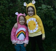 Amelie and Atticus: Care Bear Hoodies