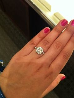 tiffany cushion cut engagement ring