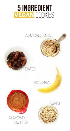 5 ingredient Vegan Gluten Cookies!
