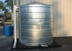 rain barrels | 2500 gallon rain barrel in Montgomery County, Texas
