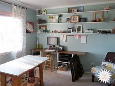 House Bella's Modern Craft Room and Office